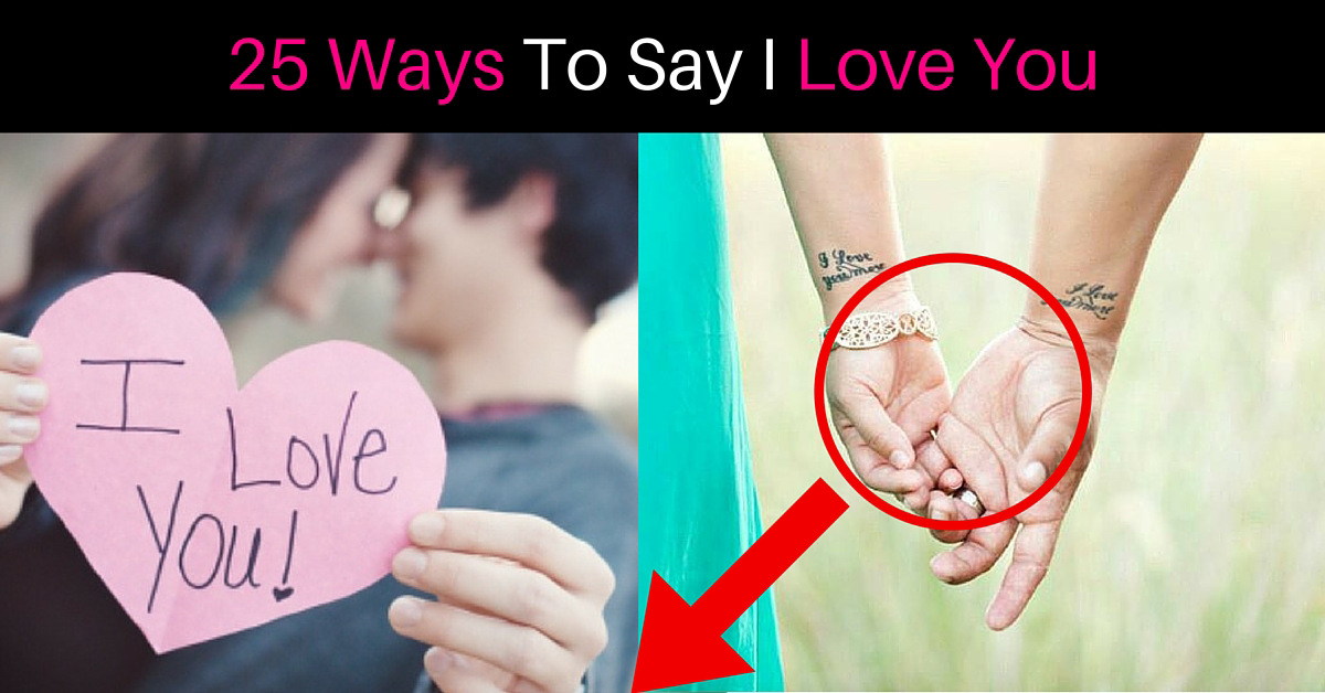 other ways to say i love you relationship